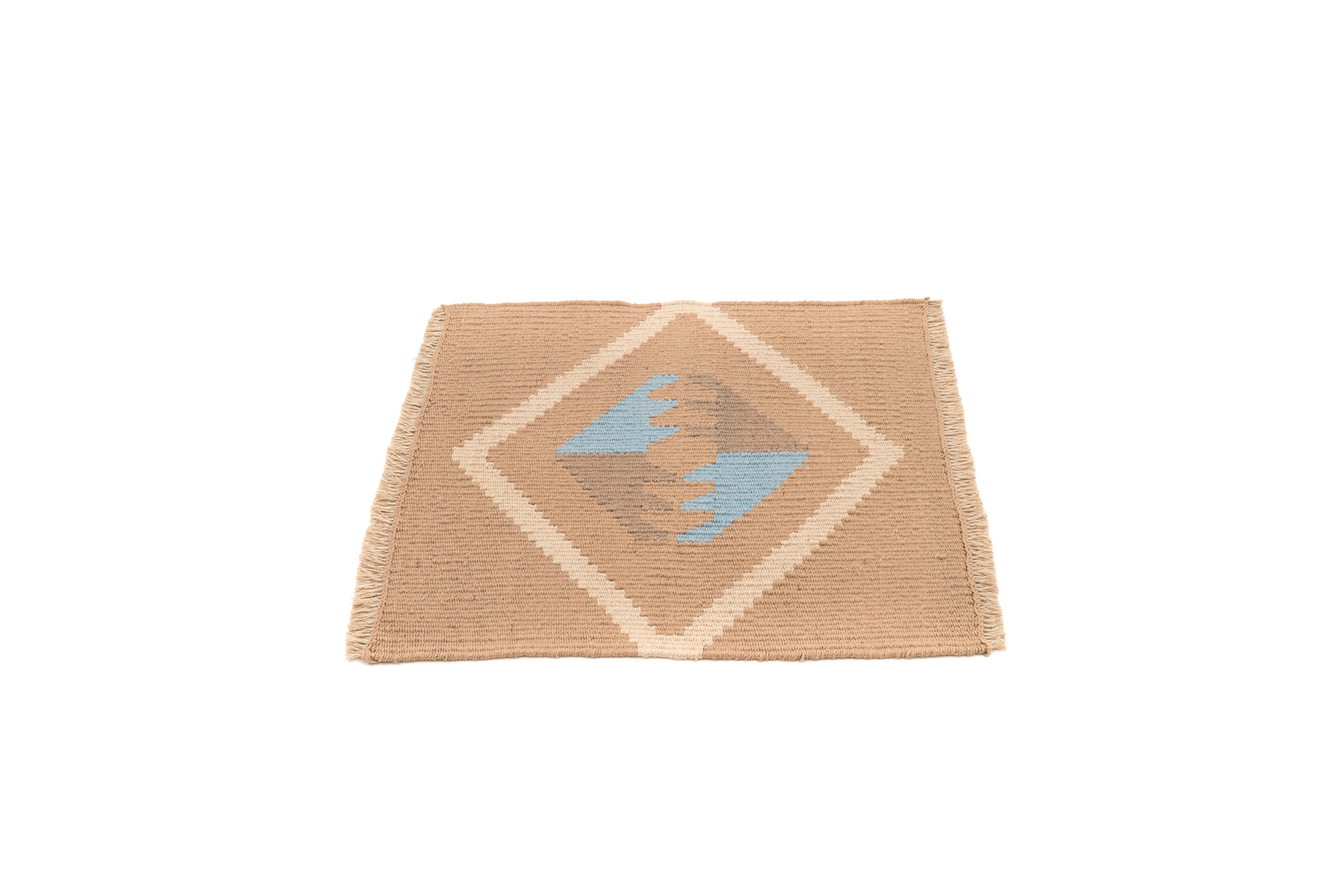 """Mother Earth"" Handwoven Hemp Designer Mini Rug II"