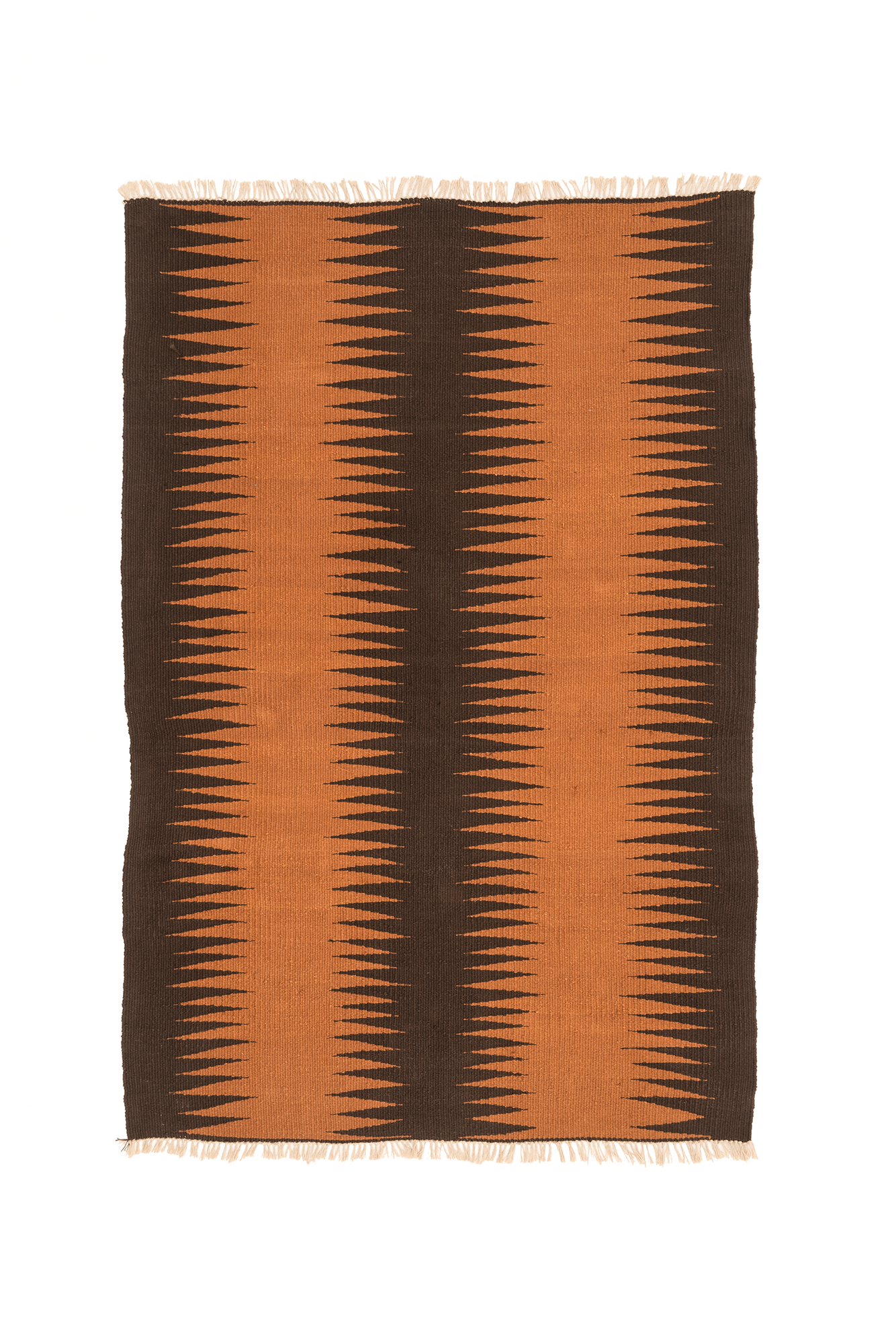 """Chocolate Dream Frequency"" Handwoven Hemp Designer Rug"