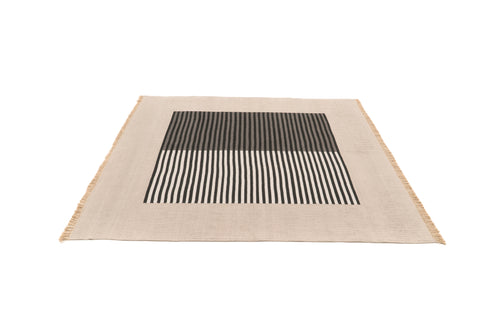 """Bridging Seasons"" Handwoven Hemp Designer Rug"