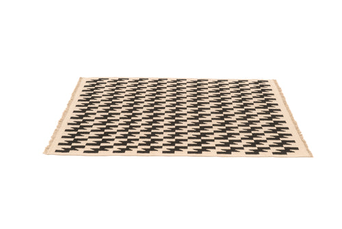 """Thunder and Lightening"" Handwoven Hemp Designer Rug VI"