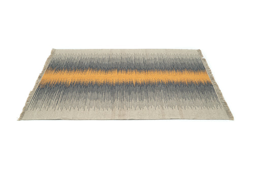 """Source"" Handwoven Hemp Designer Rug"