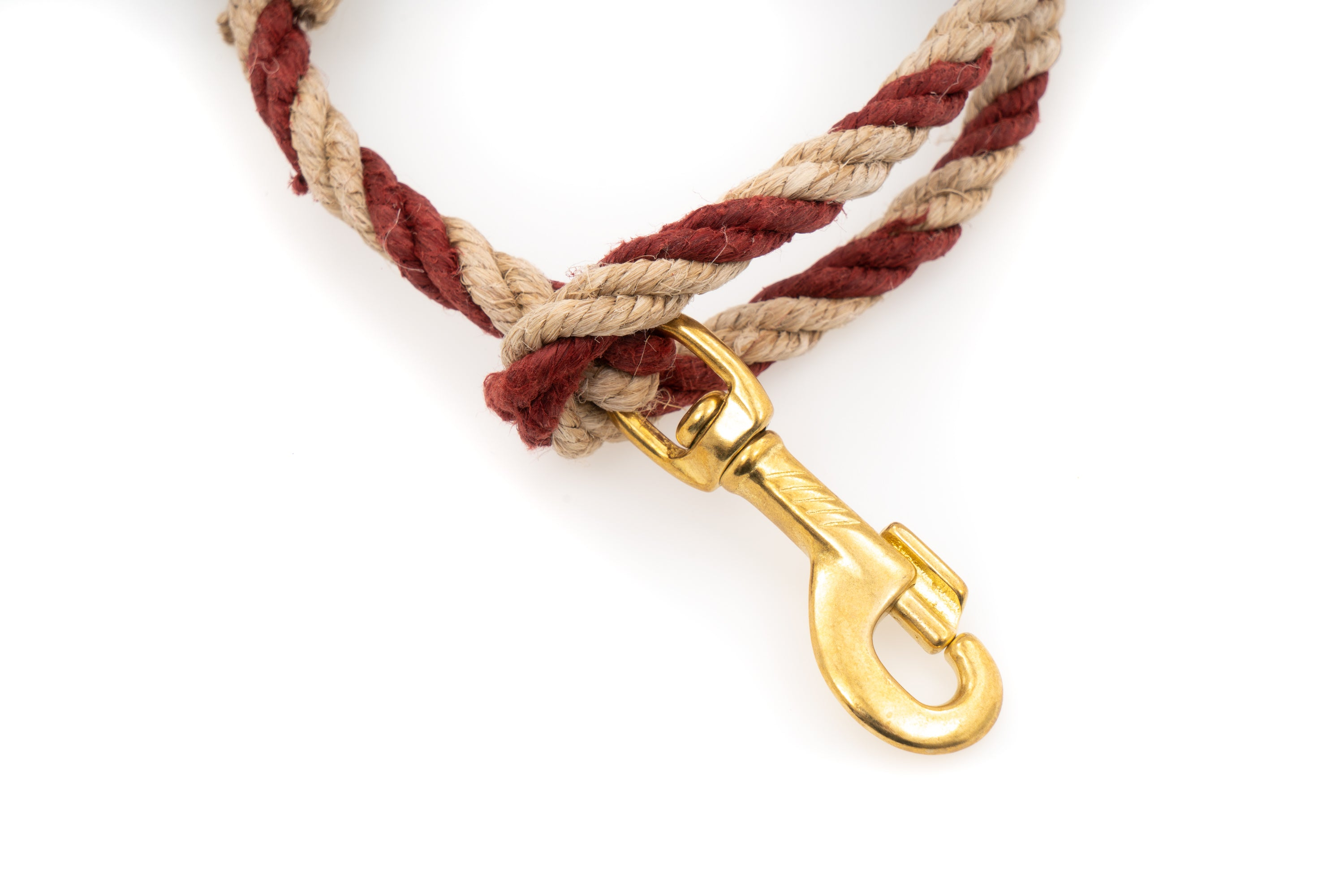 Short Dog Leash - Handspun Hand Laid Authentic Artisanal Hemp Rope