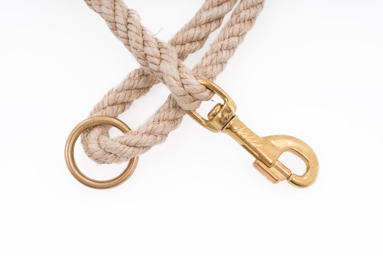 Dog Leash - Handspun Hand Laid Authentic Artisanal Hemp Rope