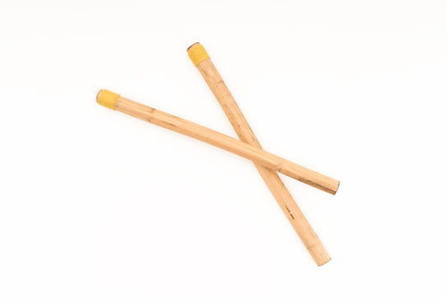 """Hollow Large Wrapped"" Hemp Stalk Drumsticks"