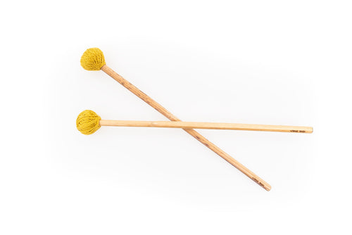 """Medium Hard"" Hemp Stalk Mallet Percussion Sticks"