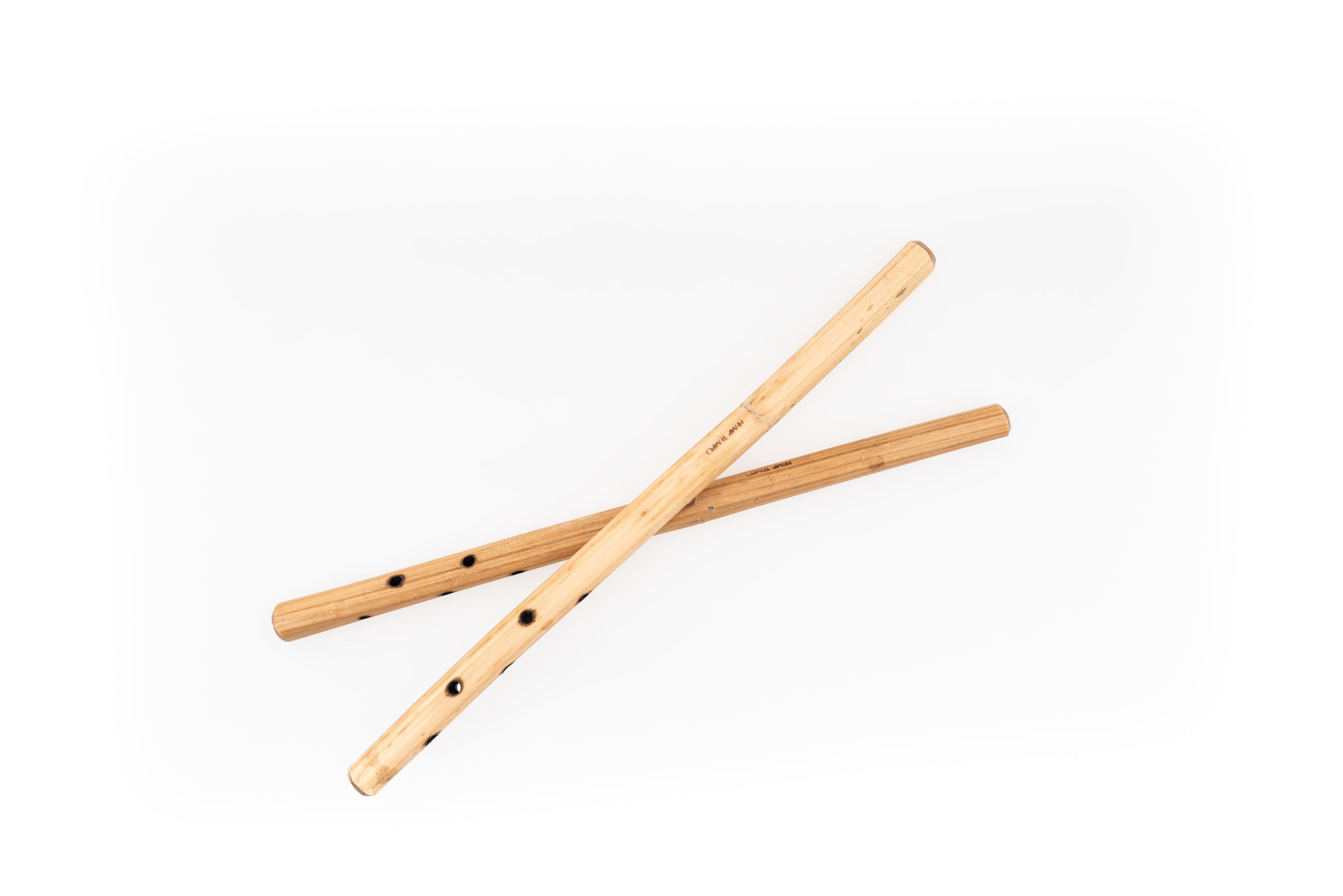 """Raw Holed Hollow"" Hemp Stalk Drumsticks"