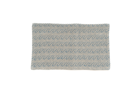 """Blue Dream Frequency"" Handwoven Hemp Designer Rug"