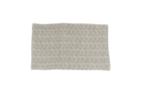 """Blue Dream Frequency"" Handwoven Hemp Designer Runner Rug"