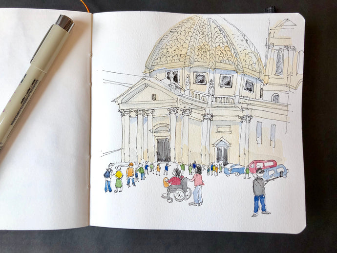 Piazza Sketching in Rome