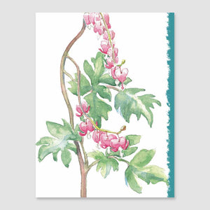 197MN bleeding heart mini-note card