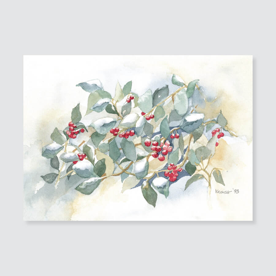 104 holly note card