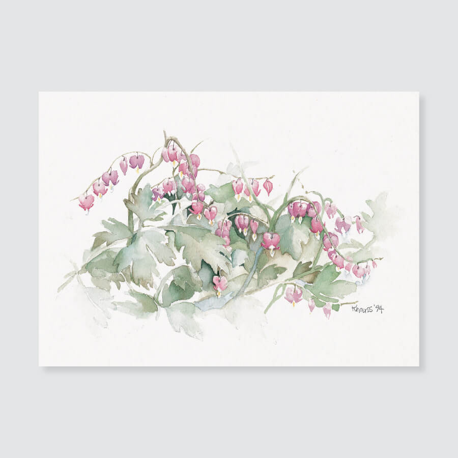 121 bleeding heart note card / mini-note card