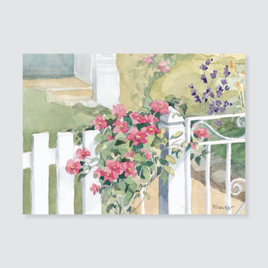 127 clematis note card / mini-note card