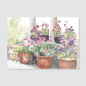 132 Jane's pots note card / mini-note card