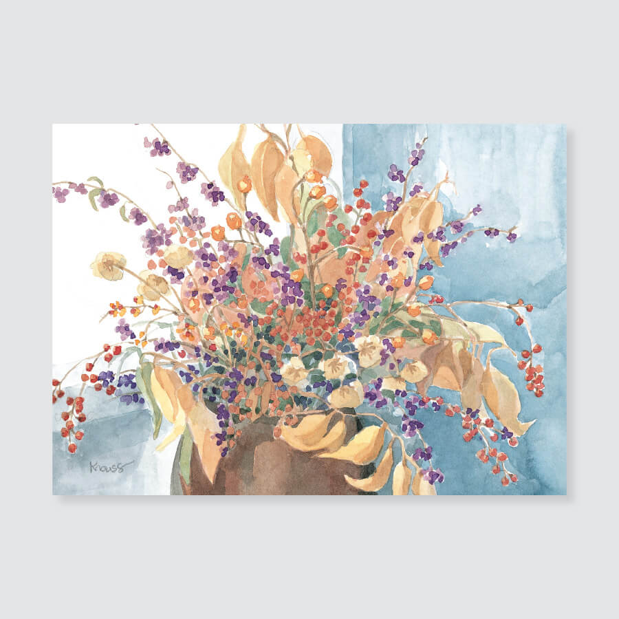 137 autumn berries note card / mini-note card