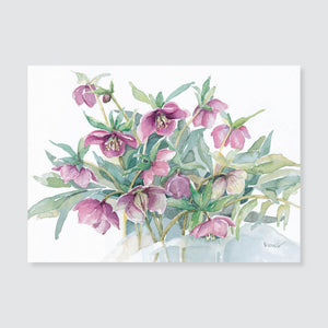 147 Lenten rose note card / mini-note card