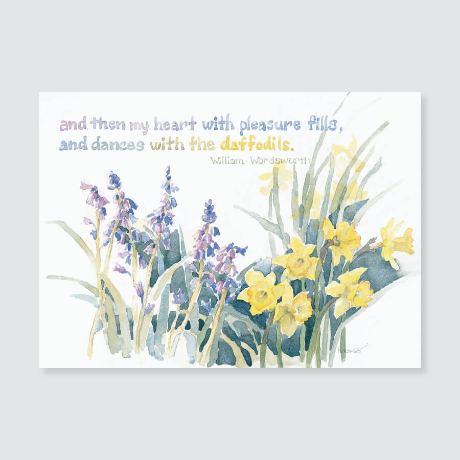 153 daffodil note card / mini-note card