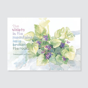 154 violets note card / mini-note card