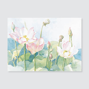 156 lotus note card / mini-note card