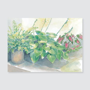 166 hosta note card / mini-note card