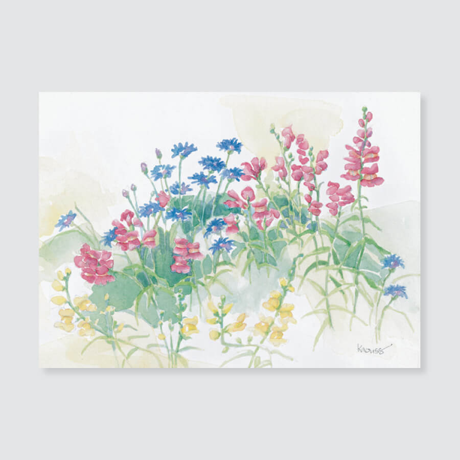 167 snapdragons note card / mini-note card