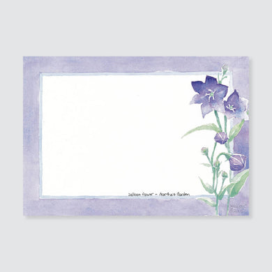 174 balloon flower correspondence card