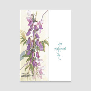 129BC Wisteria birthday card