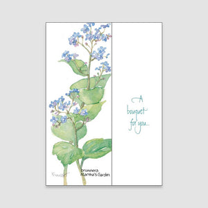 141BC Brunnera birthday card