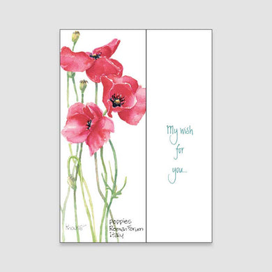182BC Poppy birthday card
