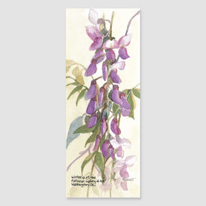 129B wisteria bookmark