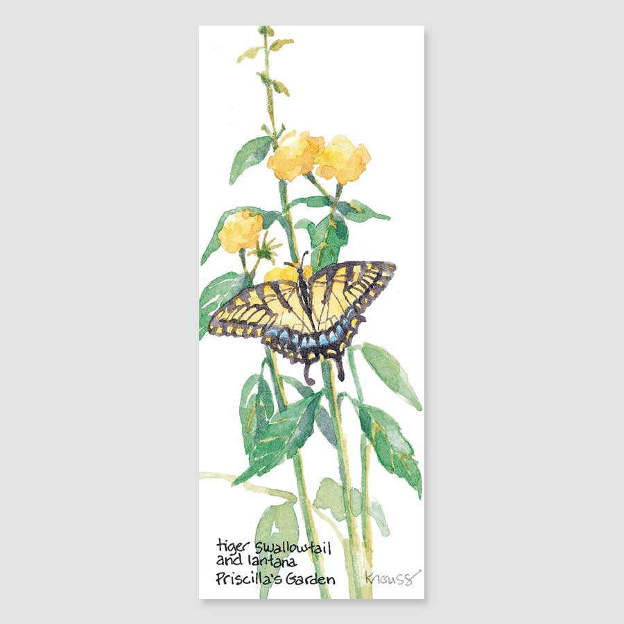140B swallowtail bookmark