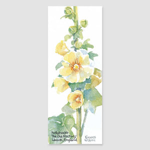 160B hollyhocks bookmark