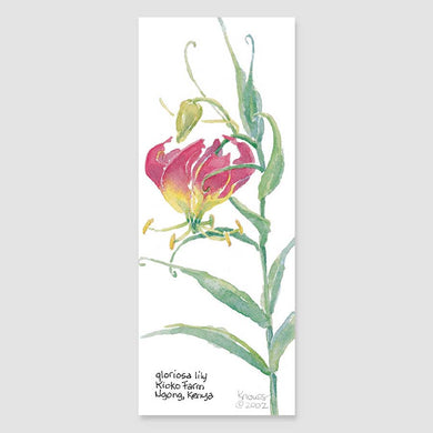 169B gloriosa lily bookmark