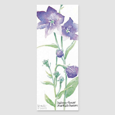 170B balloon flower bookmark