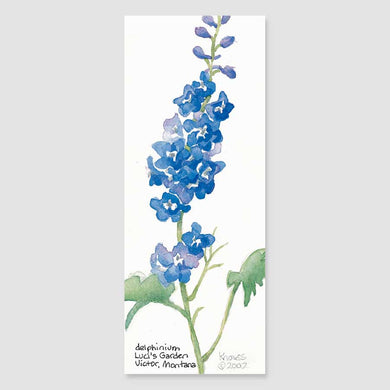 172B delphinium bookmark
