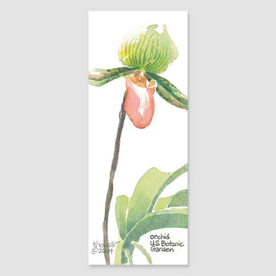 181B orchid bookmark