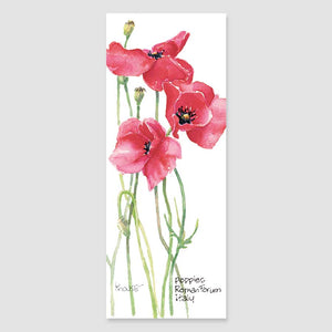 182B red poppy bookmark