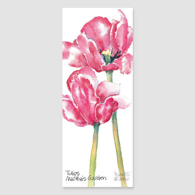 184B tulips bookmark