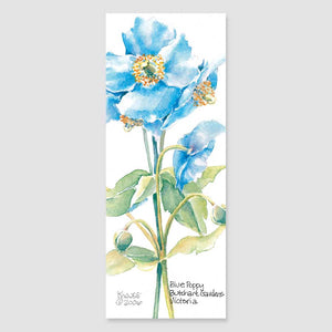 185B blue poppy bookmark