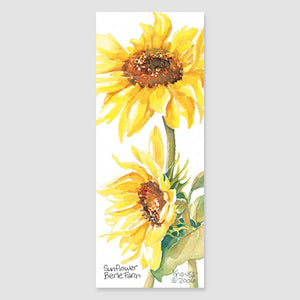187B sunflower bookmark