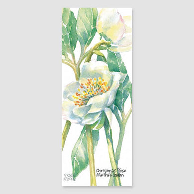 189B Christmas rose bookmark
