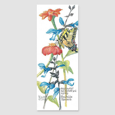 194B swallowtail with salvia bookmark