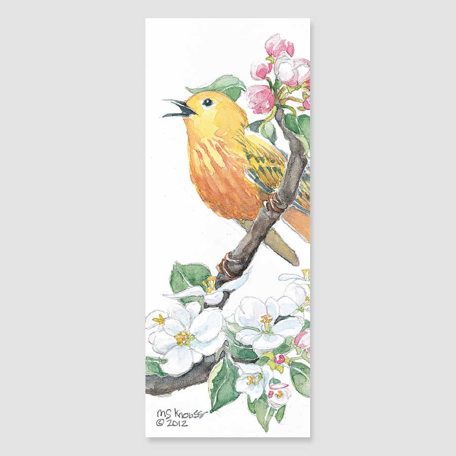 199B yellow warbler bookmark