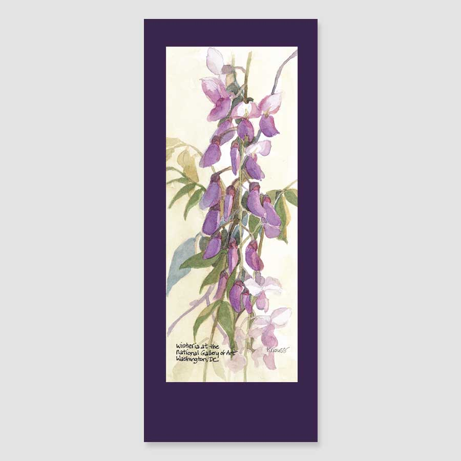 129BMC wisteria bookmark card