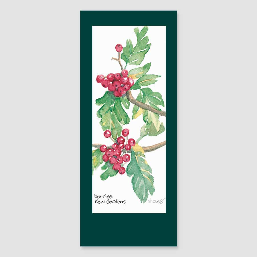 139BMC Kew berries bookmark card