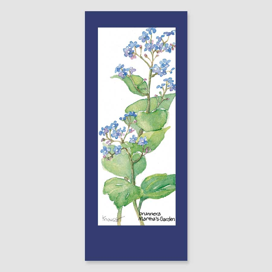 141BMC brunnera bookmark card