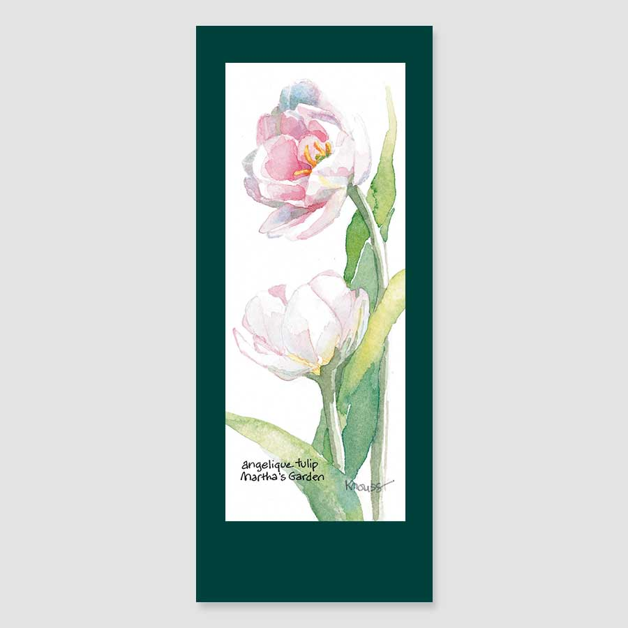 142BMC angelique tulip bookmark card