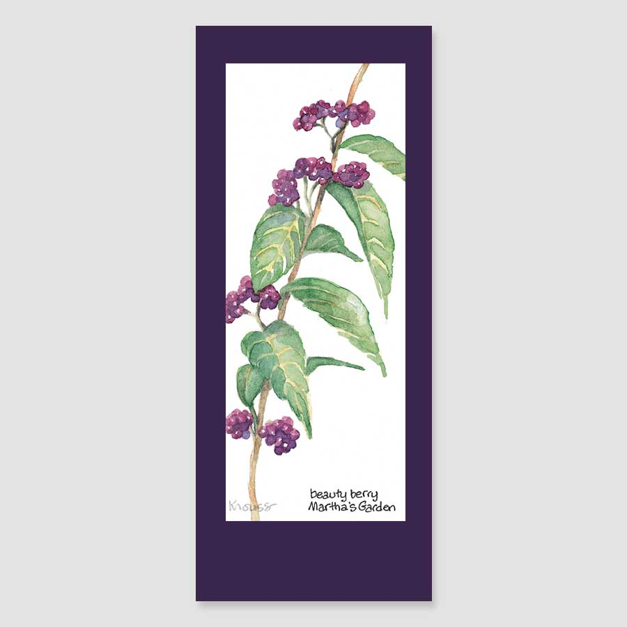 144BMC beauty berry bookmark card