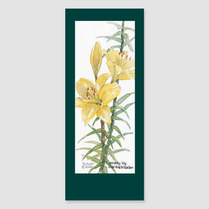 149BMC Asiatic lily bookmark card