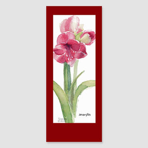 152BMC amaryllis bookmark card
